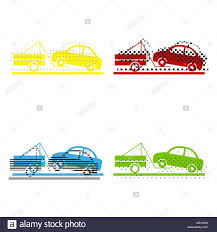 100 Truck Sign Tow Truck Sign Vector Yellow Red Blue Green Icons With Their
