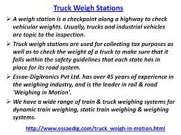 100 Truck Weights Weigh Stations In Motion Weighing Ppt Download