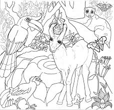 Tropical Rainforest Coloring Page