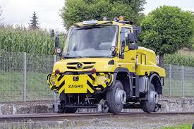 100 Shunting Trucks Mercedes Unimog RoadRailer Goes From Truck To Diesel Locomotive