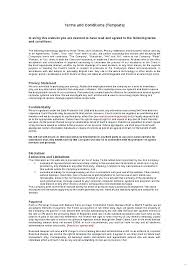 Service Terms And Conditions Template Elegant Standard