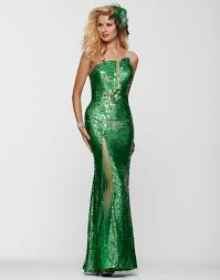 clarisse 2013 emerald green strapless sequin beaded prom gown 2152