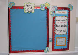Art Word Wall And Class Rules Using CTPs Dots On Turquoise Designer Decor