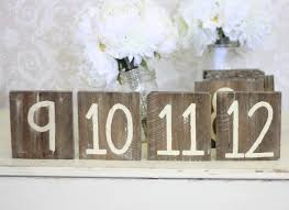 Rustic Table Numbers For The Wedding Party At Reception