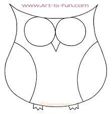 Cute Owl Blank Outline By Thaneeya