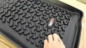 unboxing rugged ridge jeep floor liners mats youtube