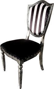 casa padrino deco luxus esszimmer stuhl schwarz weiß streifen antik stil silber luxus hotel möbel