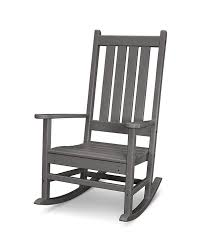 Amazon.com : POLYWOOD Vineyard Porch Rocking Chair (Slate Grey ...