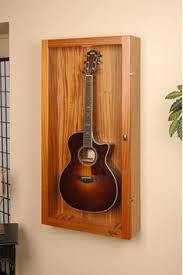 Guitar Display Case Wall Mounted