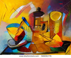 Alternative Reproductions Of Famous Paintings By Picasso Applied Abstract Style Kandinsky Designed In