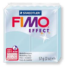 pâte fimo effect 57gr bleu quartz n 306 staedtler perles co