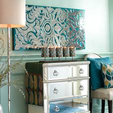 Pier One Imports Mirrored Chest by Mirrored Damask Panels Teal Pier 1 Imports For The Home