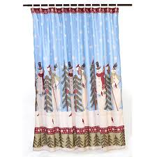 Boscovs Kitchen Curtains by 382445 Snowman Tree Farm Shower Curtain Snowman Kitchen Curtains
