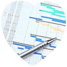 Puzzle Diagramma Di Gantt E Penna Cuore 19cm X 19cm 75