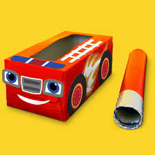 Blaze Fire Truck Tissue Box Craft | Nickelodeon Parents