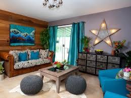 wandverkleidung holz innen wohnzimmer blau braun grau