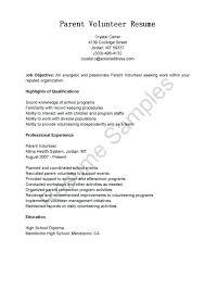 Volunteer Work On Resume Cover Position Sample