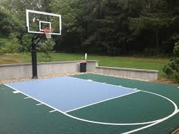 Nice Backyard Concrete Slab For Playing Ball Picture With ... Amazing Ideas Outdoor Basketball Court Cost Best 1000 Images About Interior Exciting Backyard Courts And Home Sport X Waiting For The Kids To Get Gyms Inexpensive Sketball Court Flooring Backyards Appealing 141 Building A Design Lover 8 Best Back Yard Ideas Images On Pinterest Sports Dimeions And Of House