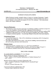 resume skills summary engineer awesome collection of cover letter master s degree engineering