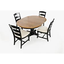 Jofran Castle Hill Antique Black Oak 5 Piece Round To Oval Dining Table Set Reviews