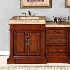 60 Inch Bathroom Vanity Single Sink White by Shop Bathroom Vanities 49 To 60 Inches Wide With Free Shipping