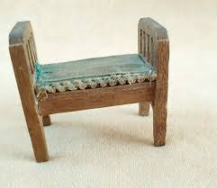 antike sitzbank bänkchen puppenstube holz möbel wohnzimmer