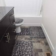 grau steine teppich sets speicher form weich bad