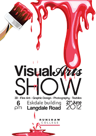 Runshaw Art Exhibition Poster By Lucky22Designs