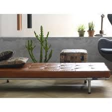 industrial loungeliege daybed milan vintageleder liege mit stahlrahmen up möbel