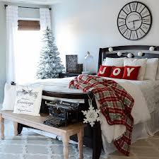 Dreamy Bedroom Decor With Tree Ornaments And Snowflakes