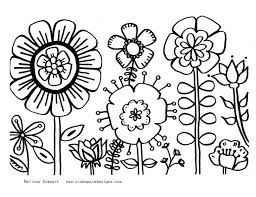 Coloring Pages Spring Flowers Page Flower Prints And Colors For Educations