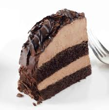 La Rocca Celebration Chocolate Mousse Bombe Cake Slice