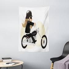wandteppich wohnzimmer schlafzimmer wandtuch seidiges satin wandteppich abakuhaus rechteckig motorrad langhaarige kühle biker kaufen