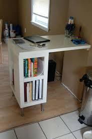 Ikea Computer Desk Hack by Bookcase Ikea Shelf Desk Hack Ikea Kallax Desk Bookcase These