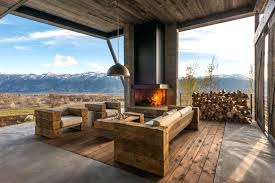 Rustic Patio Furniture United States Outdoor With Throw Pillows And Wood Flooring Modern