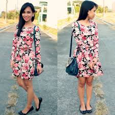 fashion trends cute spring floral dresses with sleeves combined