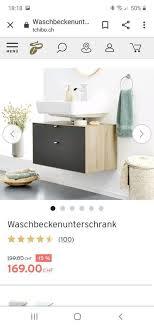 tchibo waschbeckenunterschrank weiß matt braun in hessen