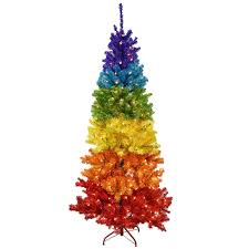 F7 7ft Pre Lit Rainbow Christmas Tree