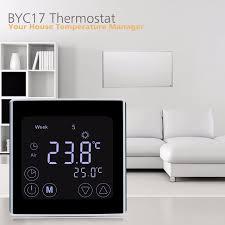 floureon byc17gh3 lcd touch screen zimmer fussboden heizung thermostat wöchentliche programmierbare temperaturregler temperatur controller