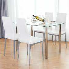 Detalles Acerca De 5 Piezas Juego De Mesa De Comedor 4 Sillas Muebles De  Cocina De Metal De Vidrio Blanco- Mostrar Título Original Kings Brand Fniture 3 Piece Bronze Metal Square Ding Kitchen Dinette Set Table 2 Chairs Elixir 80in Rectangular With Base By Hooker At Dunk Bright Costway 5 4 Wood Breakfast Chic Gray Room With Rustic And Vintage Louis Pair Of Silver Velvet Mirrored Legs Vida Living Tempo Glass C1860p Industrial Round Lifestyle Sam Levitz Fixer Upper A Contemporary Update For A Family Sized House Hot Item Cheap Leg Chair Vecelo Sets Pcs Embossed White Montello 3piece Old Steel