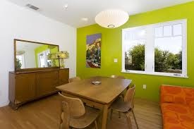 San Francisco Lime Green Bar Stools Dining Room Midcentury With Buffet Lantern Pendant Lights Ashtray