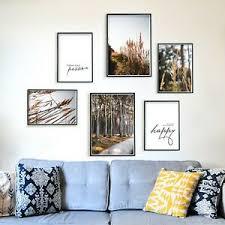 details zu 6er poster set natur wohnzimmer bilder beige golden wald gräser
