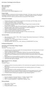 Related Post Resume Of Lecturer Sample Format For In Commerce Fresher