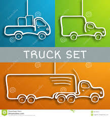 Paper Truck Set Stock Illustration. Illustration Of Design - 35010013
