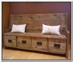Incredible Unique Rustic Storage Bench Old Wood Ideas Pertaining To Entryway Entry Benches With Plan