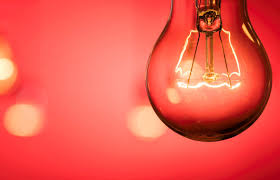 electric light bulb up on background photohdx
