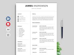 Free Simple Resume & CV Templates Word Format 2019 | ResumeKraft