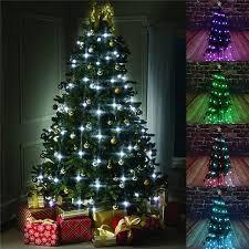 64 led string light colorful tree fiber optical