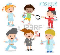 Childrens Dream Jobs Professions In For Kids Happy Children Work Wear