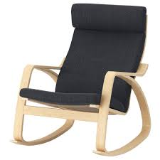 Rocking-chair POÄNG Birch Veneer, Hillared Anthracite